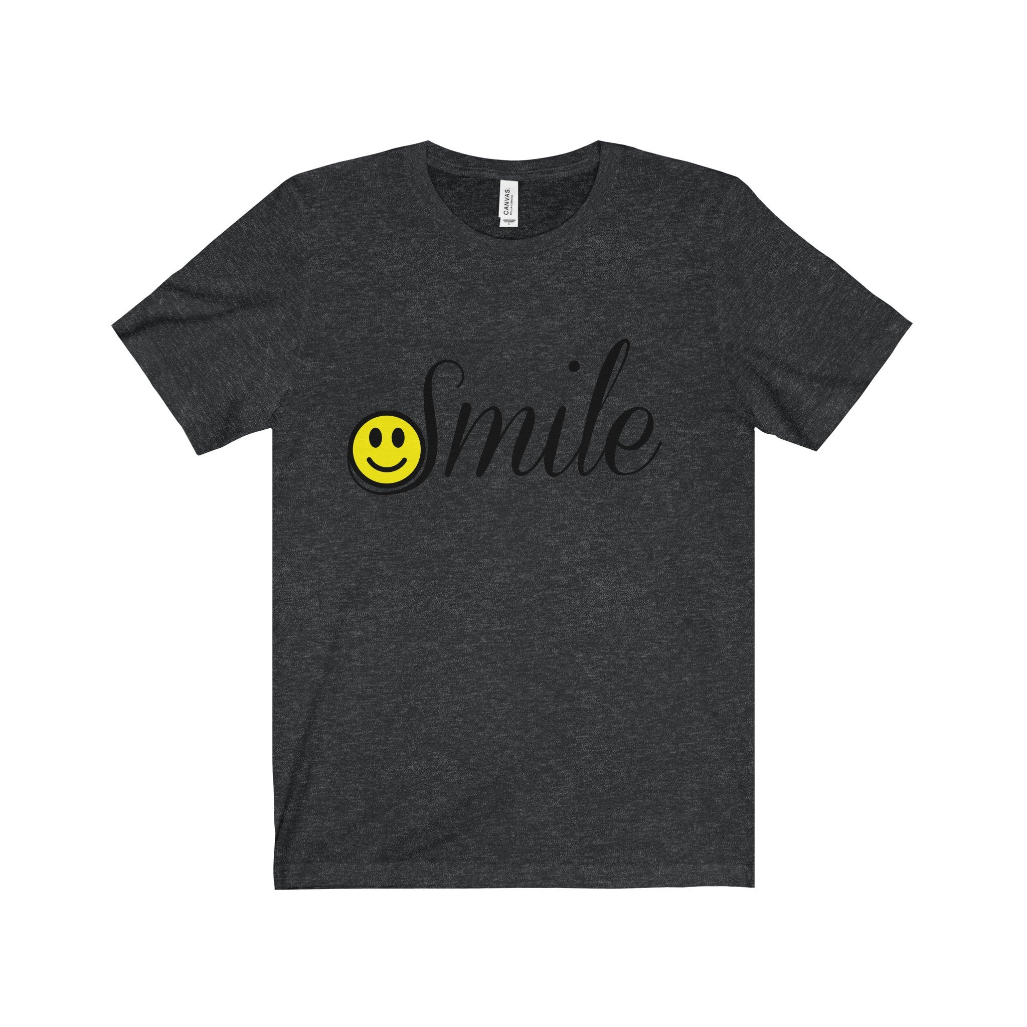 Smile Happy Face Black Letter Tee (7 colors available)