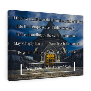 "Alfred Tennyson ""The Ancient One"" Poem Canvas"
