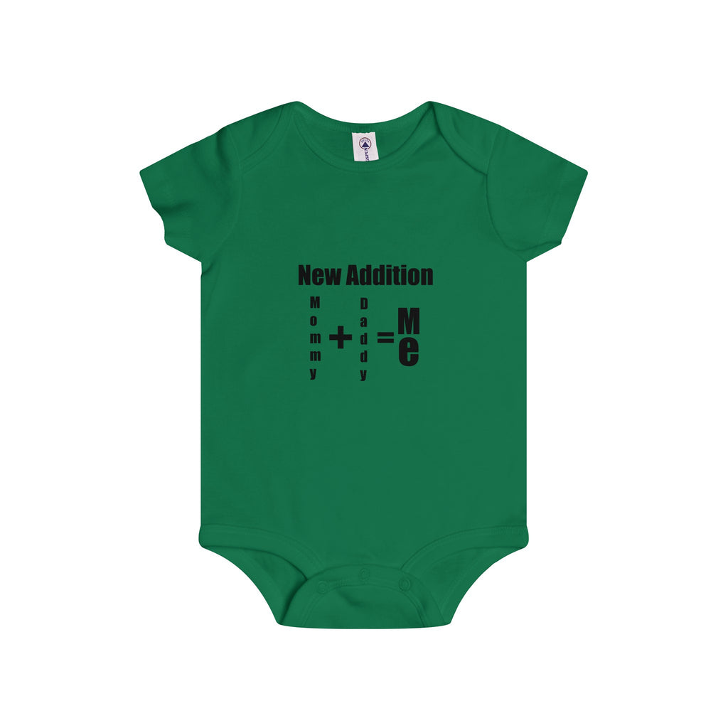 New Addition Black Letter Onesie (6 colors available)