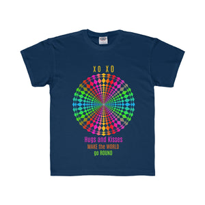 Hugs and Kisses Multi-colored Design Tee (5 colors available)