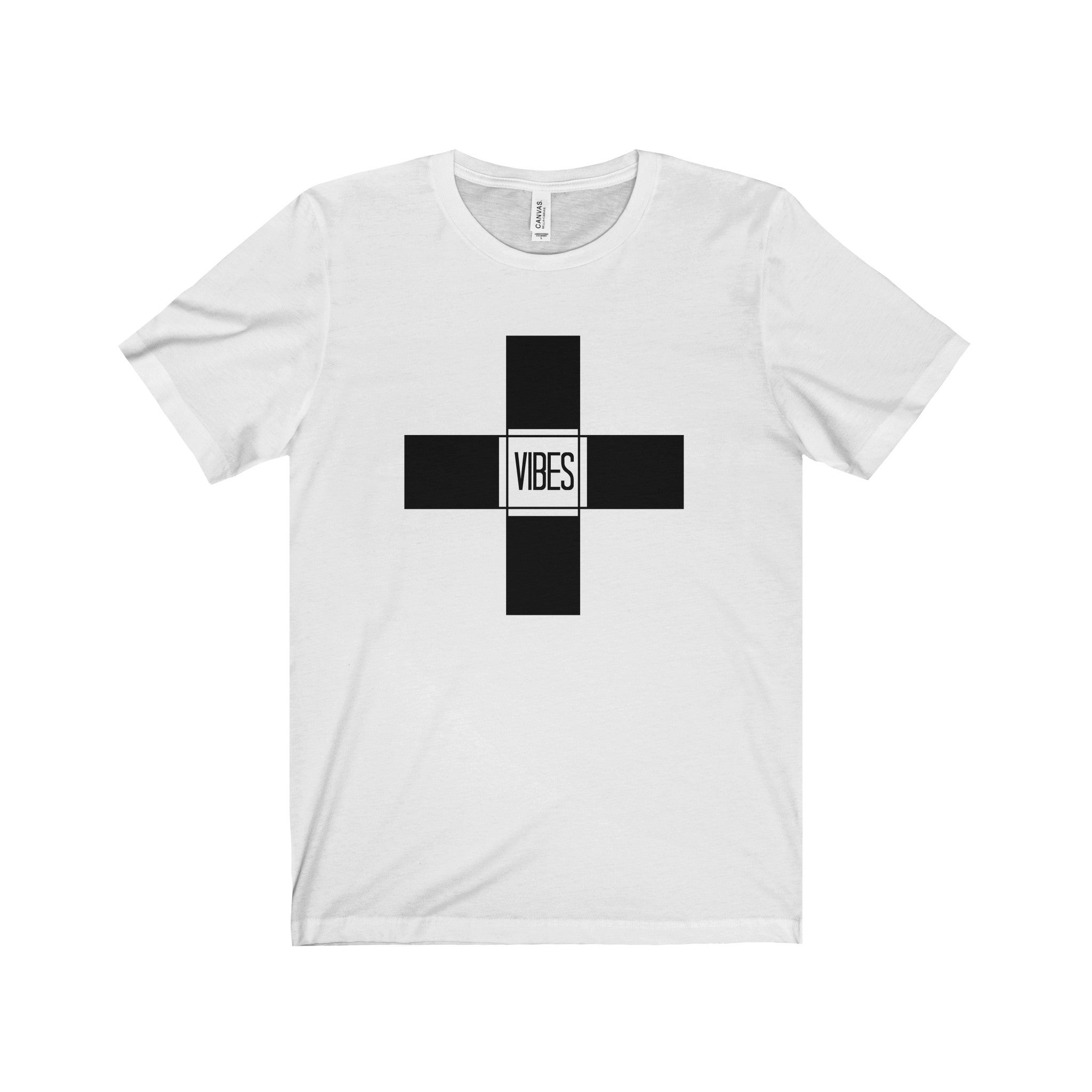 Positive Vibes Solid Black Letter Tee (5 colors available)