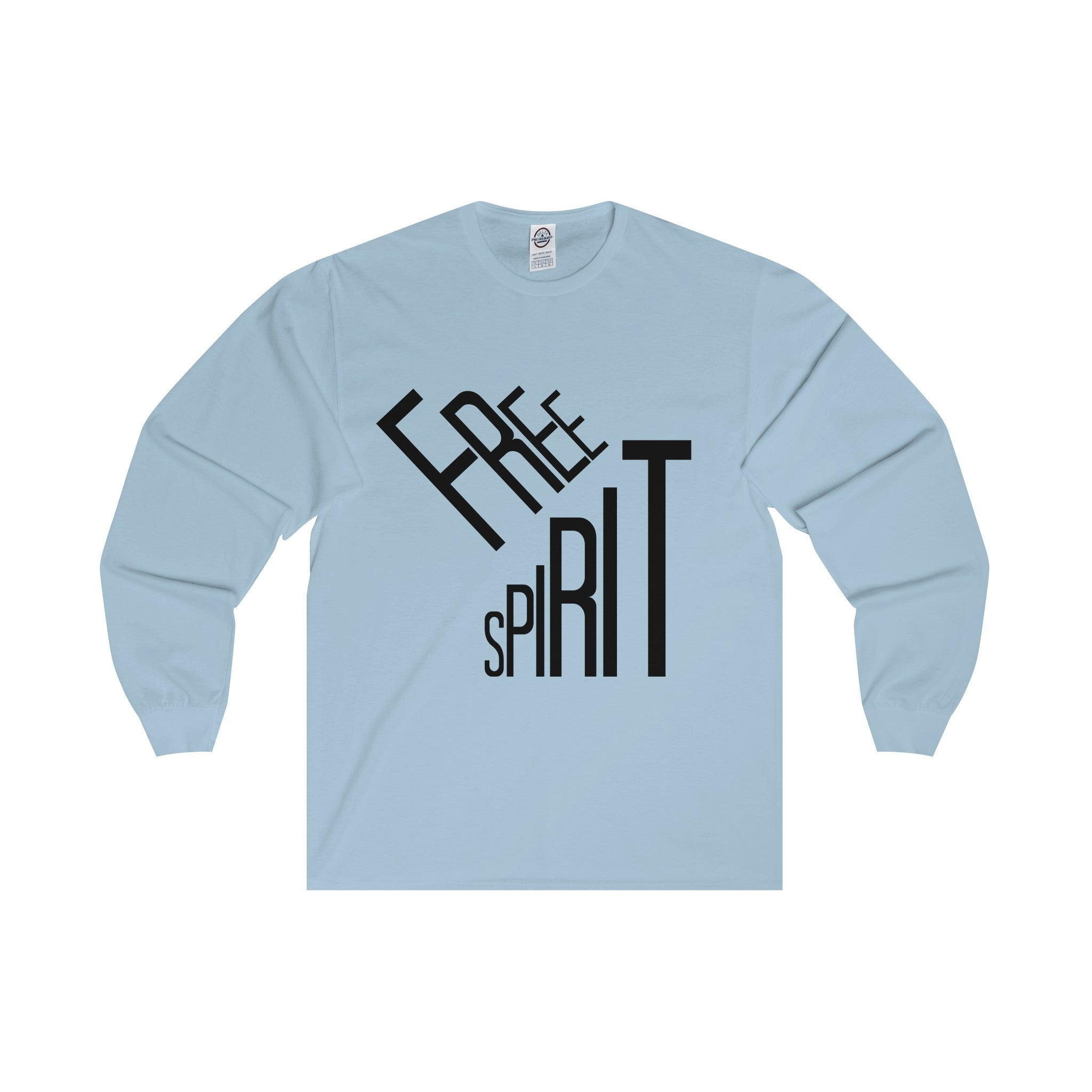 Free Spirit Black Letter Long Sleeve Tee (5 colors available)
