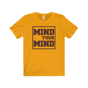 Mind Your Mind Brown Letter Tee (5 colors available)