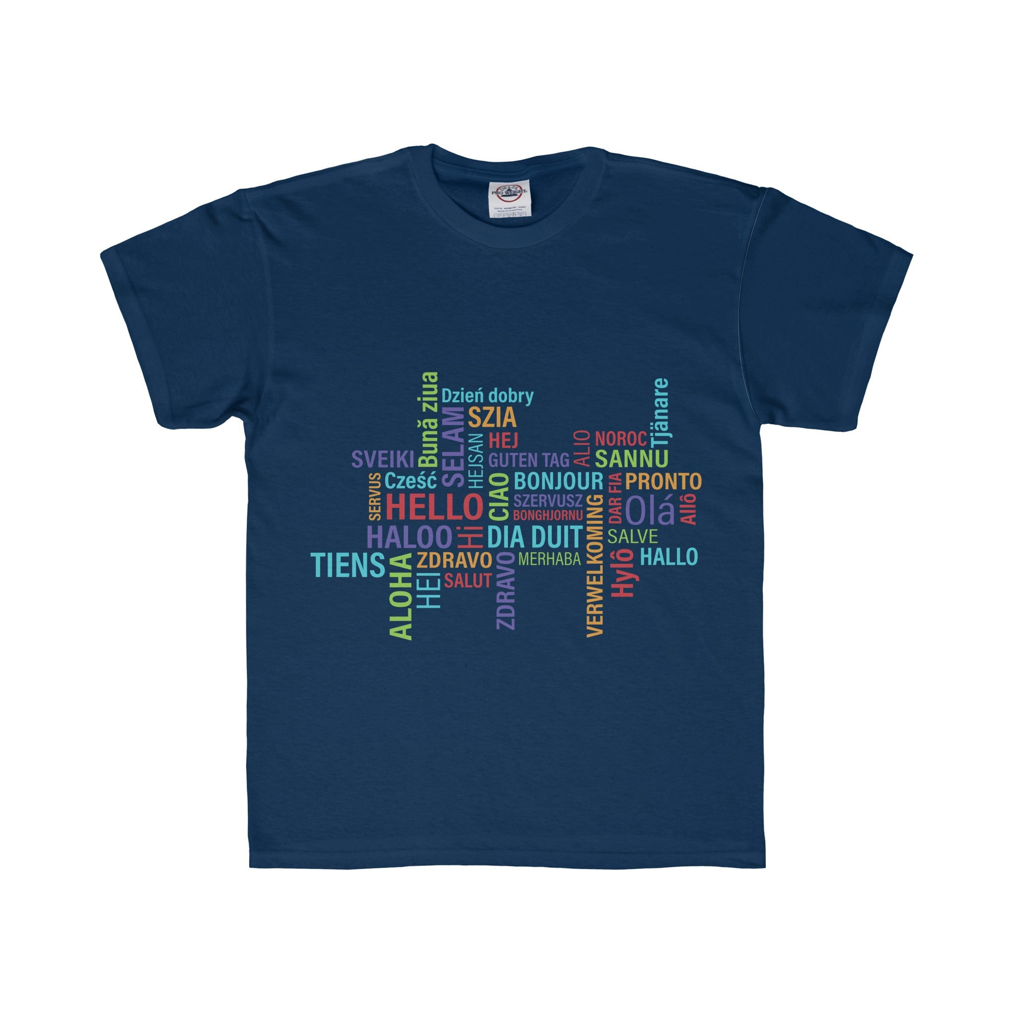 Hello Multi-Language Multi-color Design Tee (5 colors available)