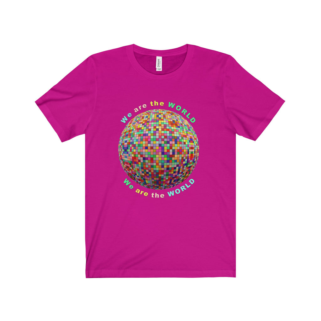 We are the World Multi-color Globe Tee (7 colors available)