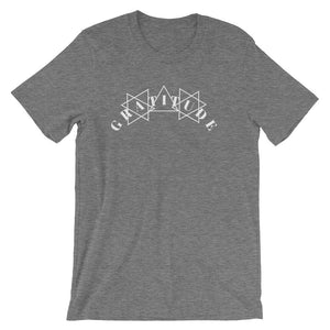 Gratitude White Unisex short sleeve t-shirt