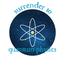Surrender to Quantum Physics tee shirt / T-shirt design from The BhakTee Life brand.