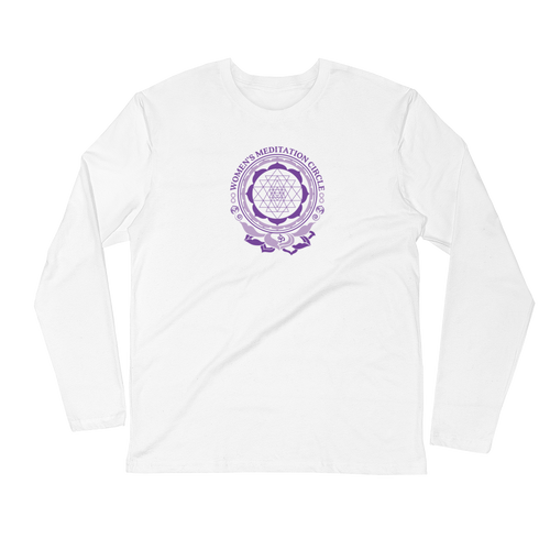 Sarasota Women's Meditation Circle Unisex Long Sleeve Fitted Crew Shirt from The BhakTee Life Brand.