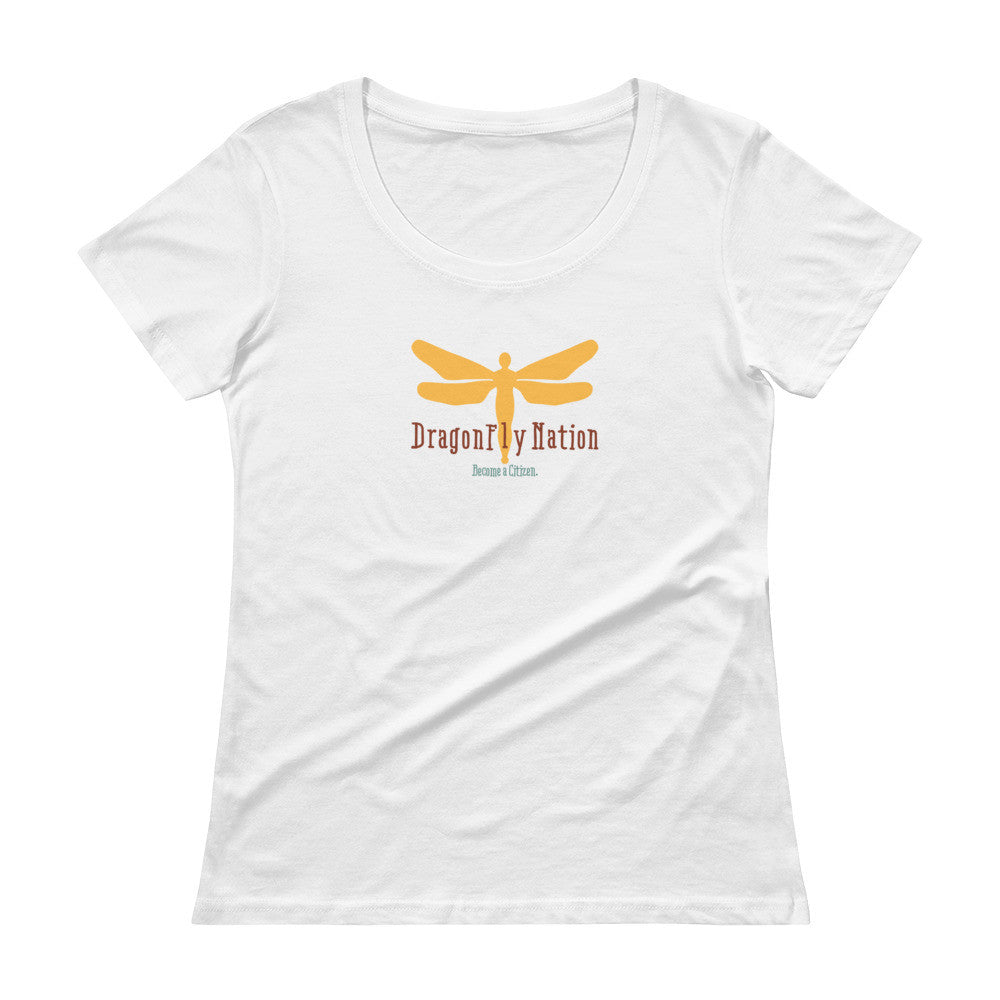 DragonFly Nation: Become a Citizen Women's Scoop Tee Shirt.