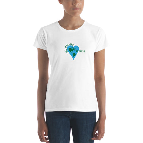 Love Reshapes the World Women's Short Sleeve Tee Shirt.