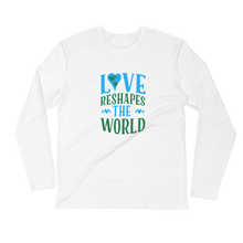 Love Reshapes The World Unisex Long Sleeve Fitted Crew.