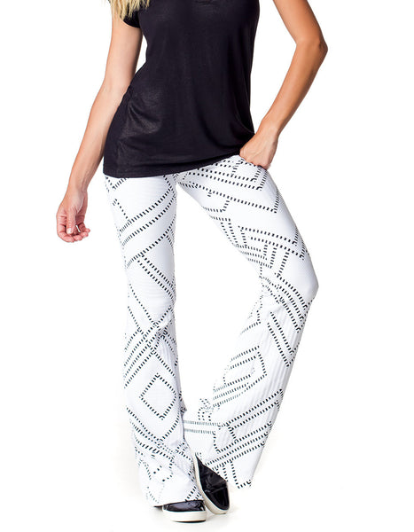 Ballerina Exercise Leggings White and Black