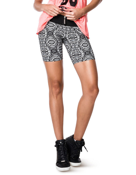 Black and White Women's Workout Shorts