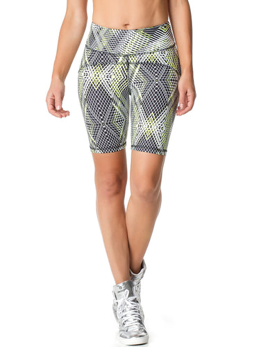 BERMUDA SHORTS 61 GEOMETRIC PRINTED GREEN