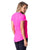 SHORT SLEEVE SHIRT 10 JANICE ESSENTIAL NEON PINK