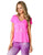 Pink Heart Exercise Shirt for Women