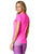 Pink Short Sleeve Yoga Shirt for Women
