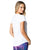 White loose fitting activewear top