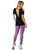 Stylish black open shoulder ladies activewear top
