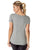 Grey In Power u-neck short sleeve exercise shirt