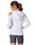 Long sleeve white hoodie open shoulders