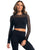 LYCRA BLACK LONG SLEEVE CROPPED