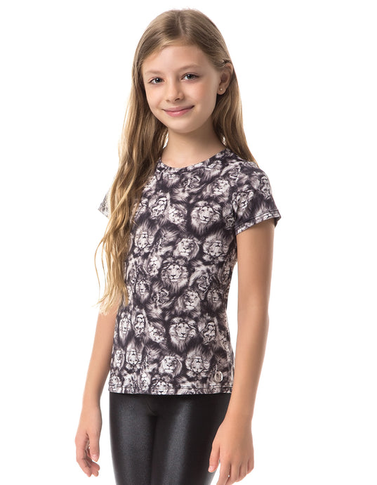 LION VESTEM KIDS BLACK T-SHIRT