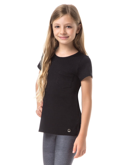 KIDS SHORT SLEEVE BLACK HEART WEAR