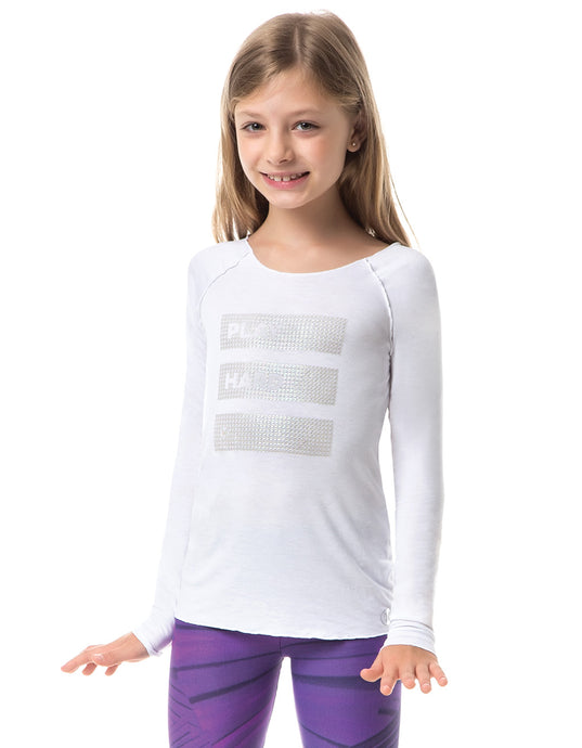 KIDS LONG SLEEVE SHIRT WHITE HARD VESTEM