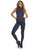 Women's Black Zippered Activewear Vest