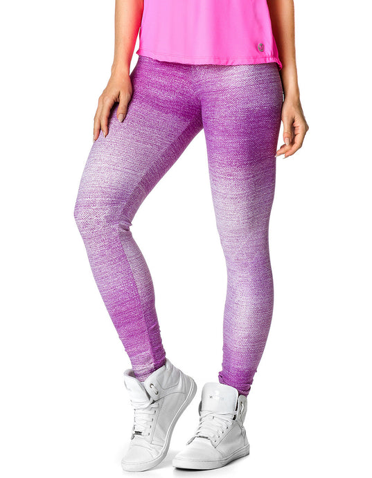 Purple Tie Die Exercise Leggings