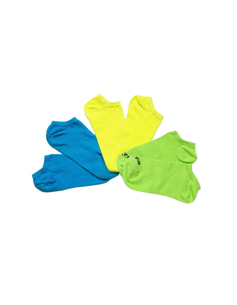 KIT WITH 3 SOCKS VESTEM INVISIBLE CASUAL BLUE/YELLOW/GREEN