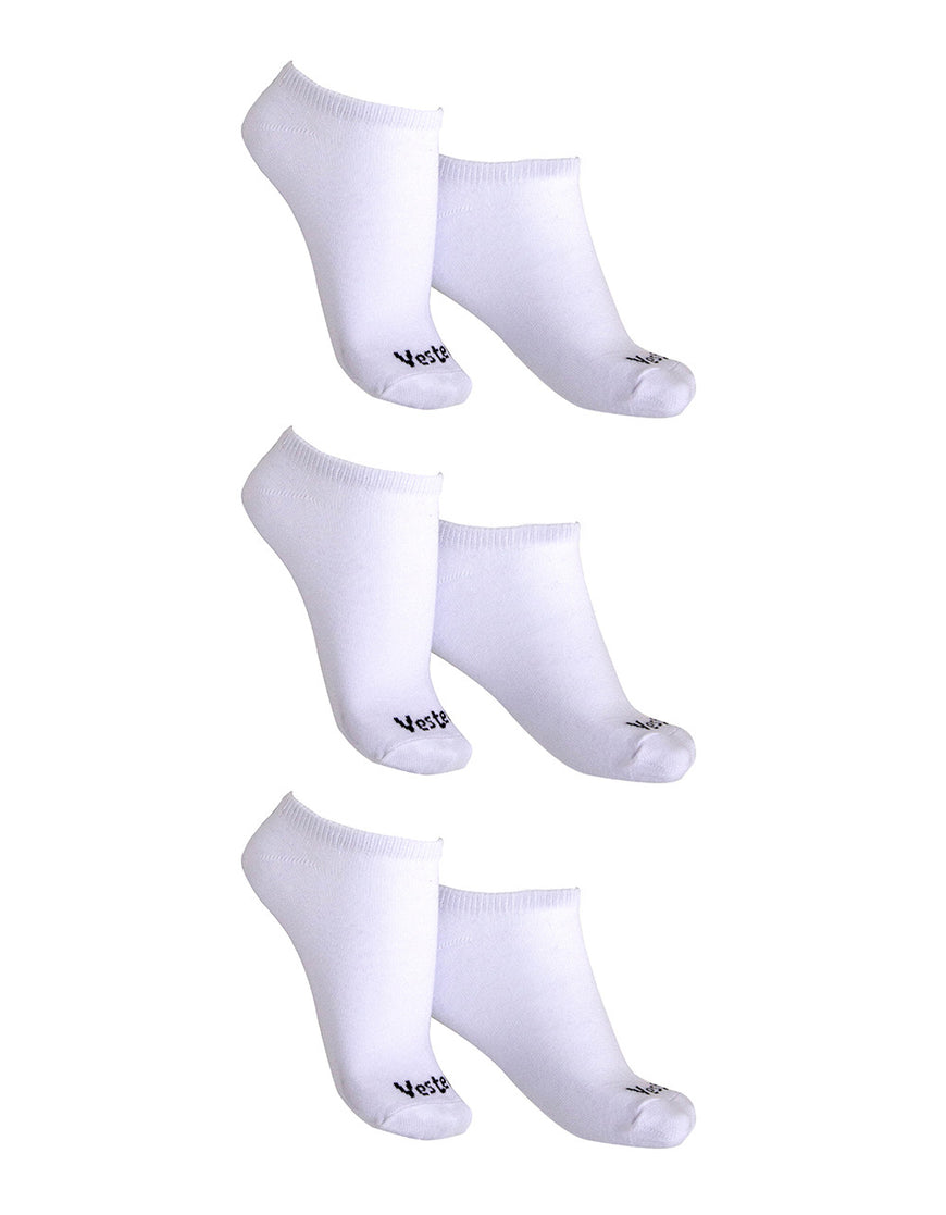 KIT WITH 3 SOCKS VESTEM INVISIBLE CASUAL WHITE