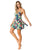 Tropical floral skirted swimsuit