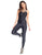 QUEEN BEE BLACK WORKOUT JUMPSUIT