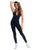 BLACK LYCRA WORKOUT JUMPSUIT