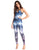 PRINTED SUBLIMATED OVERLAP WORKOUT JUMPSUIT