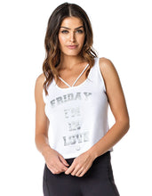 TANK TOP 268 WORKOUT WEEK (FRIDAY) WHITE