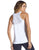White mesh activewear tank top
