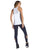 Women's white activewear tank