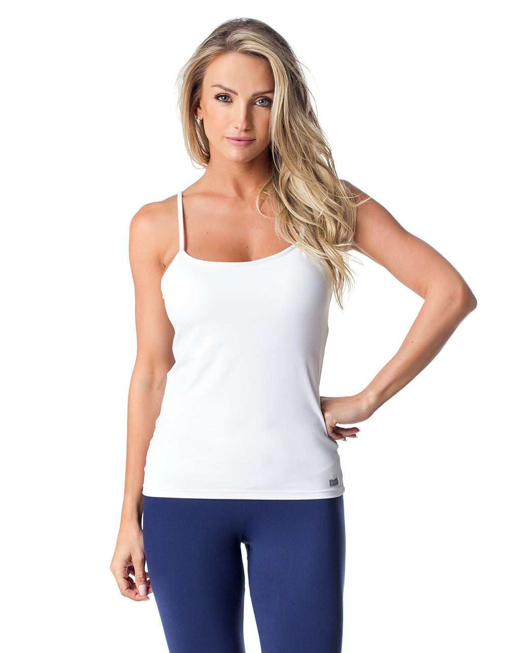 TANK TOP 53 THIN STRAP PADDED WHITE