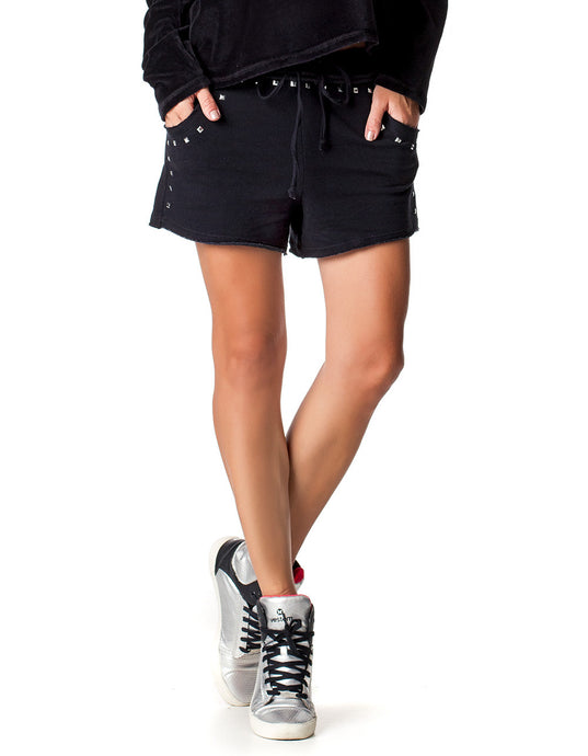 SHORTS 92 SWEATS WITH HOTFLIX BLACK