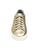 Ladies gold metallic sneakers