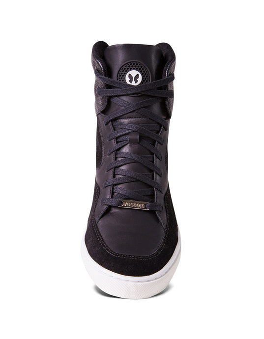 Black hightop workout sneakers for women