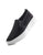 SNEAKERS 08 YATCH SLIM HIGH SOLE BLACK SATIN