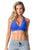 SPORTS BRA 11 CROSSED ROYAL BLUE