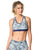 SPORTS BRA 203 GEOMETRIC PRINTED BLUE