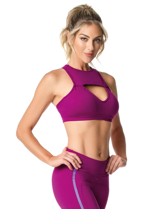 SPORTS BRA 210 KEYHOLE PURPLE
