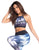 PRINTED SUBLIMATED STREET SPORTS BRA