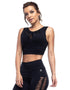Laser Profile Black Sports Bra